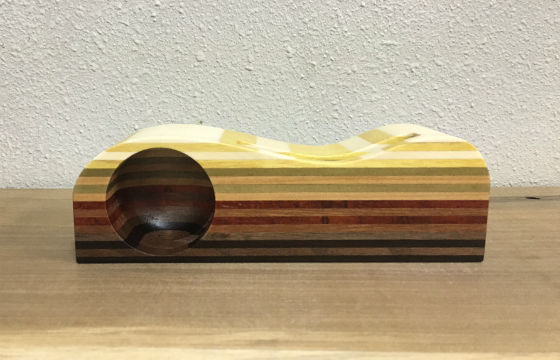 角盆ロング(白小寄木)表